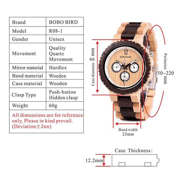 Bobo Bird Habicht - Armbanduhr - Chronograph - Herrenuhr ...